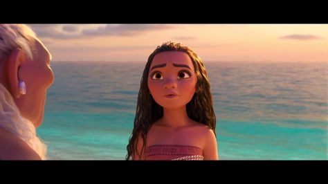 Moana receives some words of wisdom from her grandma about her travels across the sea. Moana in cinemas today.