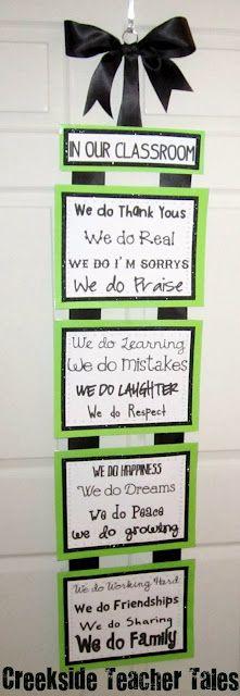 Creekside Teacher Tales: Classroom Pledge Love this.