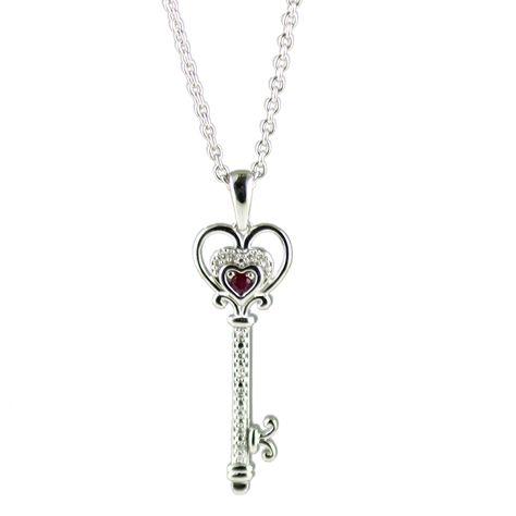36mm x 22mm Solid 925 Sterling Silver Cubic Zirconia CZ in Love Heart Cross Pendant