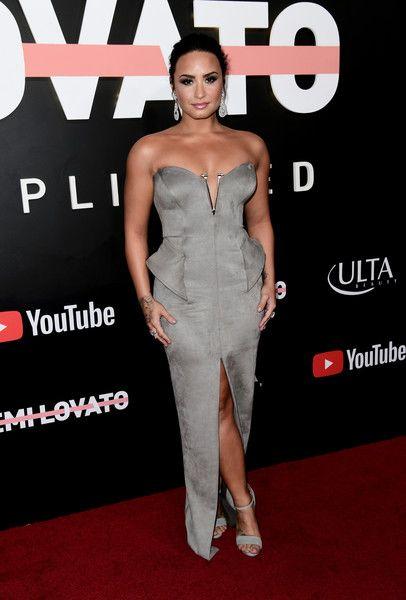 Demi Lovato attends the 'Demi Lovato: Simply Complicated' YouTube premiere.