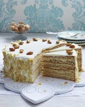 Buttercreme Torte Mit Gebrannten Mandeln Rezept Buttercreme Torte Torten Rezepte Gebrannte Mandeln Rezept