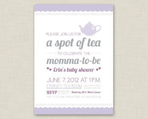Baby Shower High Tea Invitation Wording