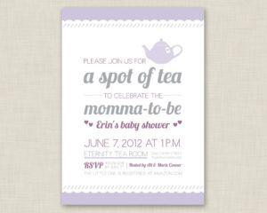 Baby Shower High Tea Invitation Wording Tea Party Baby Shower Invitations Baby Shower Tea Tea Party Baby Shower