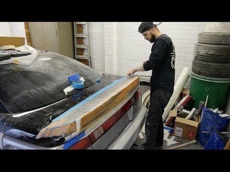 Molding a fiberglass wing