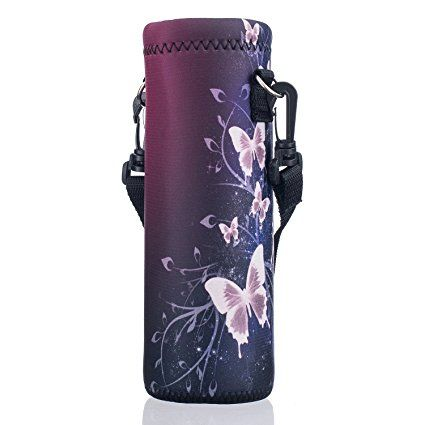 Water Bottle Carrier with Shoulder Strap Insulated Water Bottle Holder to Drink