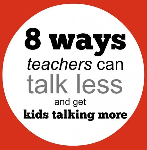 If you dofewer teacher-directed activities, that means the kids will naturally do more talking, doesn't it? Not necessarily. I have often found myself talking almost constantly during group work and student-directed projects because I'm trying to push kids' thinking, provide feedback, and help them stay on task. Even when the learning has been turned over…