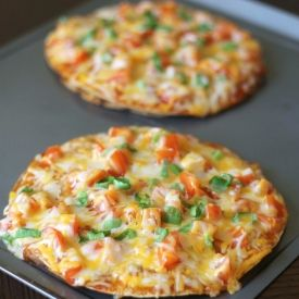 Mock Taco Bell Pizzas. Made with fresh and healthy ingredients
