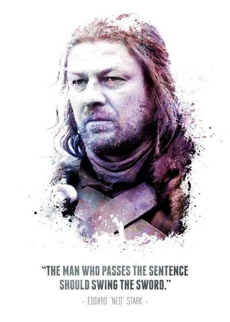 The Legendary Eddard Ned Sta Tv Shows Poster Print