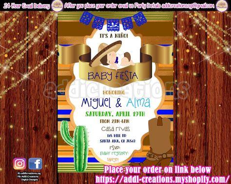 Fiesta Ideas Invitaciones Baby Shower.Fiesta Baby Shower Invitations Mexican Baby Shower