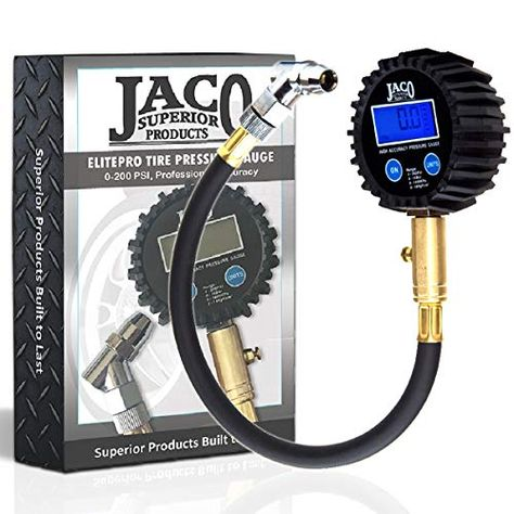 100 PSI Professional Accuracy JACO ElitePro Digital Tire Pressure Gauge