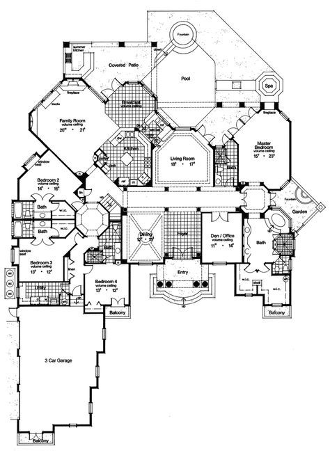 Atlantic Park Luxury Style Home Luxury House Plans House Blueprints Mediterranean Style House Plans
