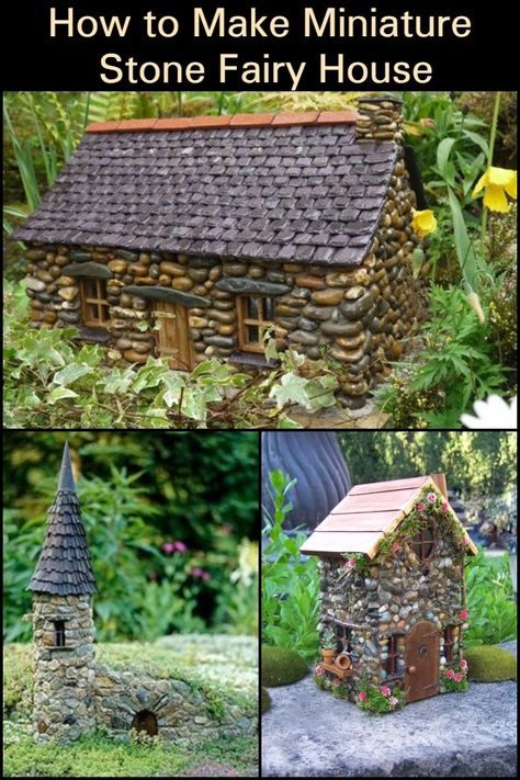 NEW Fairy Houses Cottages,Garden stone ornaments,Magic mythical Fairys home Lo