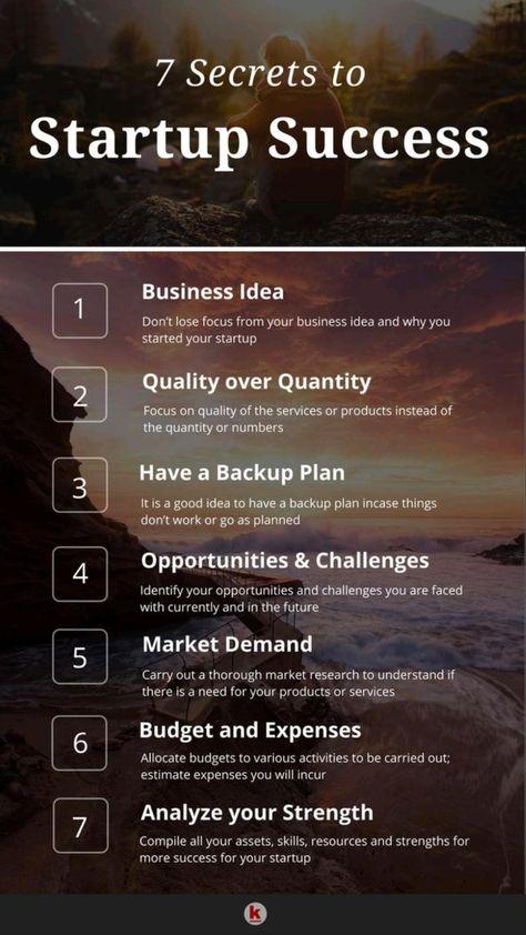 7 secret to startup success 🎯