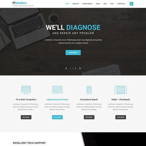 Software Company Wordpress Theme For It Company Agencies And Computers Wordpress Theme Ipad Repair Web Development Company