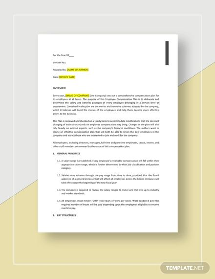 Employee Compensation Plan Template Free Pdf Google Docs Word Template Net Lettering Word Doc How To Plan