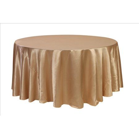 Your Chair Covers 132 Inch Round Satin Tablecloth Champagne Walmart Com In 2021 Table Cloth Round Tablecloth Wholesale Tablecloths