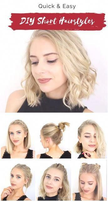 Easy Hairstyles For Short Hair At School