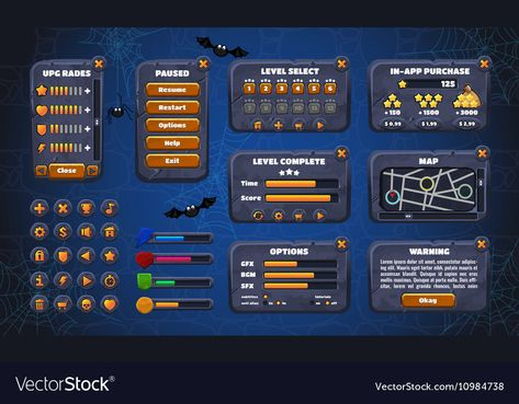 Mobile game graphical user Interface GUI Design