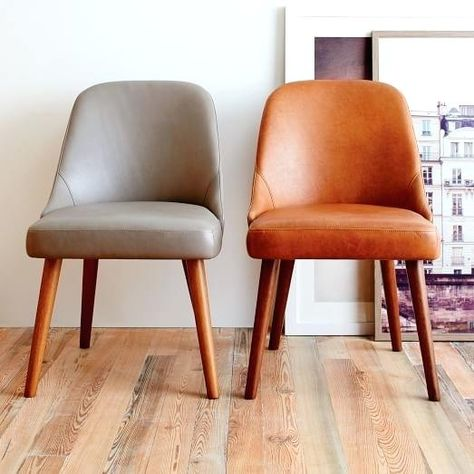 Faux Leather Dining Chair West Elm Orange Dining Chairs Mid