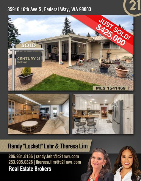 Sold Congratulations Randy Lockett Lehr Theresa Lim And To