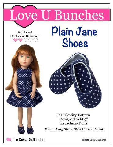Plain Jane Shoe Pattern For Kruselings Dolls Sewing Pattern Design Dolls Doll Clothes