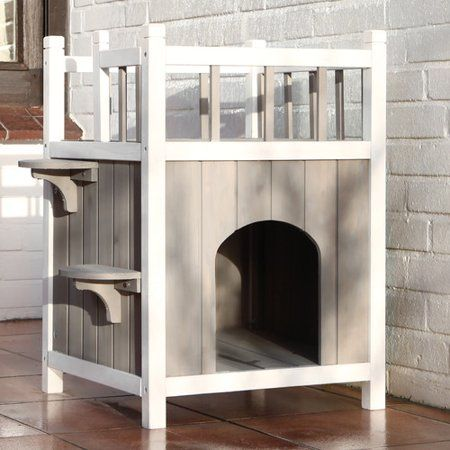 Free Shipping Buy Archie Oscar Georgia 26 Cat House At Walmart Com Outdoor Cat House Wooden Dog House Wooden Cat House