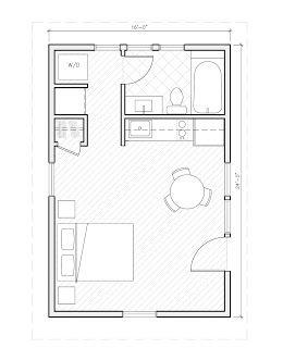 Design Banter Home Plan Collection Guest House Plans 1 Bedroom House Plans One Room Houses