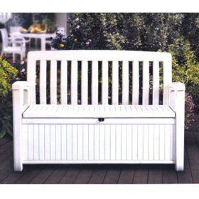 Super Keter 60 Gallon All Weather Outdoor Patio Storage Bench Home Remodeling Inspirations Gresiscottssportslandcom