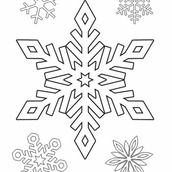 Printable snowflake templates to create beautiful crafts - snowflake template