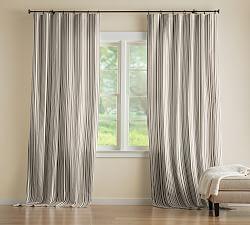 Riviera Stripe Cordless Roman Shade 48 X 64 Navy Pottery Barn Ticking Stripe Curtains Living Room Drapes Curtains