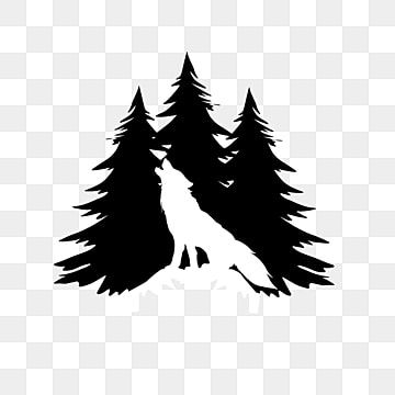 Hand Drawn White Snow Wolf Silhouette Wolf White Silhouette Png Transparent Clipart Image And Psd File For Free Download Wolf Silhouette Snow Wolf Shadow Tree