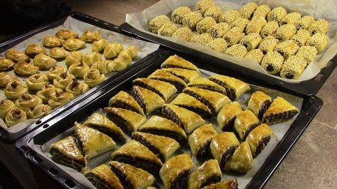 كليجة العراقية باشكال متعددة بحشوة الجوز والتمر كليجة عراقية مع رباح محمد الحلقة 228 Youtube Food Food And Drink Arabic Food