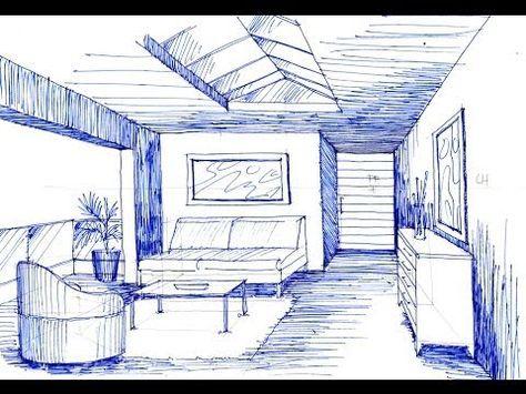 Como Dibujar En Perspectiva Un Espacio Con 1 Punto De Fuga Youtube Como Dibujar En Perspectiva Punto De Fuga Dibujo Perspectiva