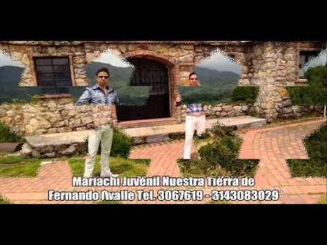 Contacto: 3067619 - 3143083029 El Mariachi Juvenil Nuestra Tierra de Fernando Ovalle desea brindar la mejor de las serenatas para sus seres queridos, sea cual sea el motivo, dentro y fuera de la ciudad. el mejor regalo para mamá, incluye 9 cancioenes incluida ya una de cortesia, arreglo floral, recordatorio y grabacion de la serenata en formato mini DVD. Visita nuestra página oficial http://www.mariachijuvenil.co/