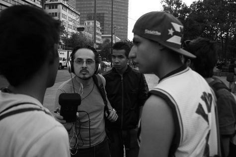 Rapeando en la Alameda con José Antonio Monterrosas Figueiras @jamjournalist Foto: Enrique Gallegos.
