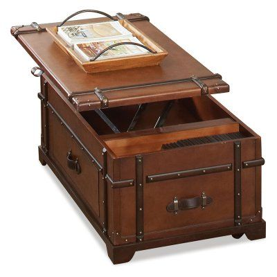 Steamer Trunk Lift Top Coffee Table The Coffee Table