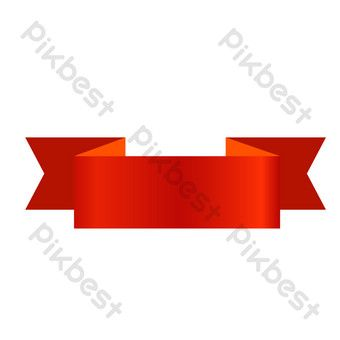 Red Folded Corner Ribbon Png Images Ai Free Download Pikbest Ribbon Png Png Images Png
