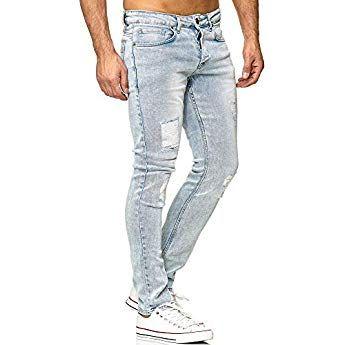Tazzio Fashion Herren Jeanshosen Light Blue