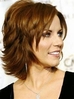 Layered Bob Medium Length Hairstyles For Over 50 With Glasses 5