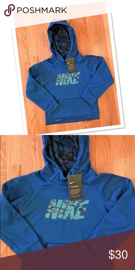 419f17eb97 NEW Nike Hoodie Therma DRI-FIT Fleece Sweatshirt Boys Youth Nike Hoodie  Therma Fleece Sweatshirt Brand new with tag 86c386-u72 Color Blue Size 4  Super cute ...