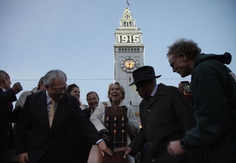 """San Francisco recently did something it hasn't done in a century: flipped the switch on giant lights blazing the year """"1915"""" on the tower of its landmark Ferry Building."""