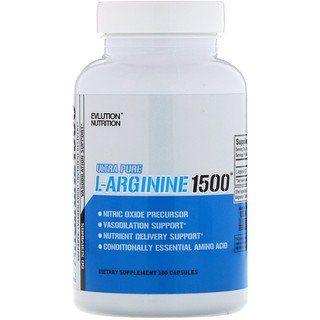 Evlution Nutrition L Arginine1500 100 Capsules Nutrition Arginine L Arginine