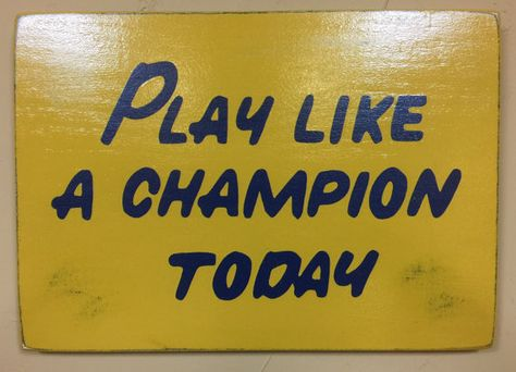 Officially Licensed Play Like A Champion Today Wood Sign