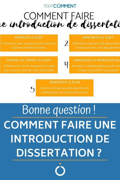 Bonne Question Comment Faire Une Introduction De Dissertation Phrase D Accroche Francai Exemple