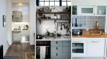 20 Idees Pour Creer Une Cuisine Au Look Vintage Decale Cuisine Salle A Manger Idees Kitchenette Meuble Haut