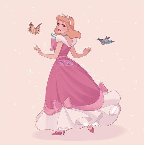 Cinderella's pink gown