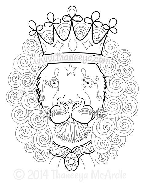 Dapper Animals Lion Coloring Page By Thaneeya