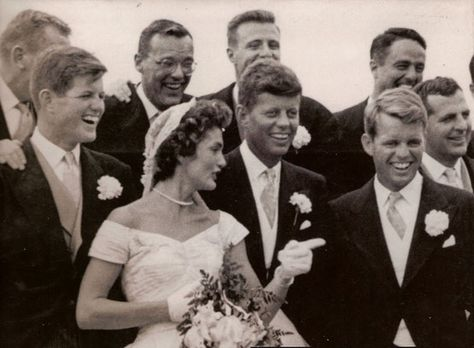 "Sep 12, 1953:  JFK marries Jacqueline Bouvier  More than 750 guests attended the ceremony presided over by Boston Archbishop Richard Cushing and featuring Boston tenor Luigi Vena, who sang ""Ave Maria."" A crowd of 3,000 onlookers waited outside the church for a glimpse of the newlyweds, who were taken by motorcycle escort to their wedding reception at Hammersmith Farm, an estate overlooking Naragansett Bay. Kennedy was elected the 35th president of the United States seven years later."