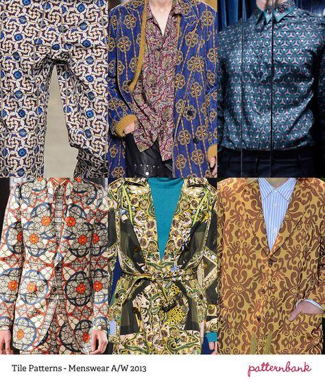 The jacket lower right - YUM!!! Menswear Print Trends – Autumn/Winter 2013 Part 2 catwalks