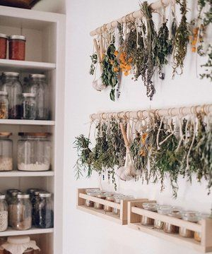 Simple Diy Herb Drying Rack For Your Garden Herbs Decor Home Decor House Interior